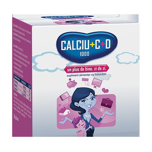 Calciu® 1000 + C + D, plicuri