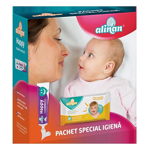 Alinan® Happy® crema pentru fundulet, crema + ALINAN Servetele