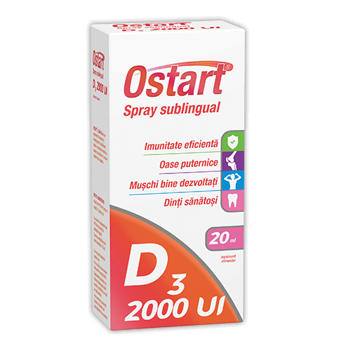 Ostart® D3 2000UI, spray sublingual